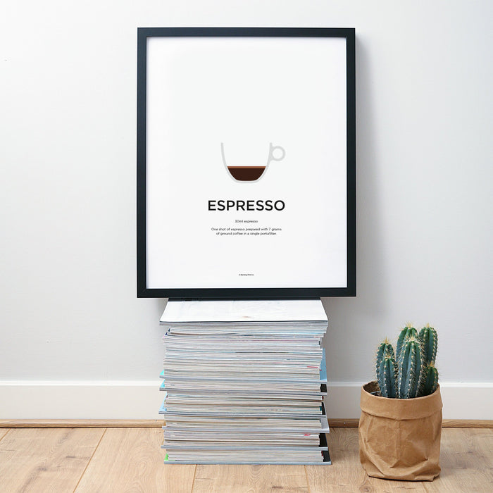 Espresso coffee wall art