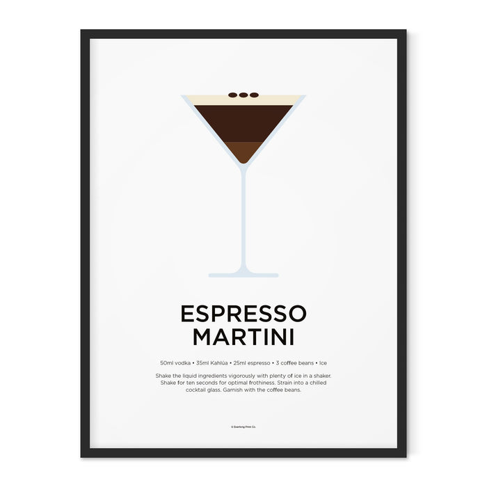 Espresso Martini cocktail art print