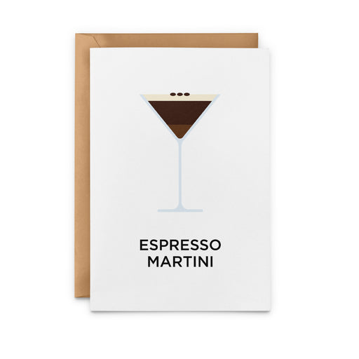 Espresso Martini Greeting Card