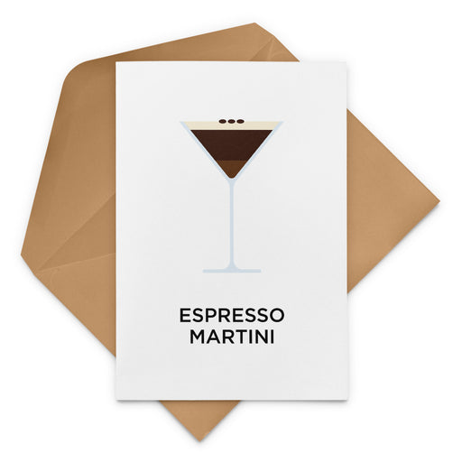 Espresso Martini Birthday Card