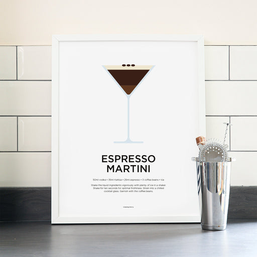 Espresso Martini cocktail poster