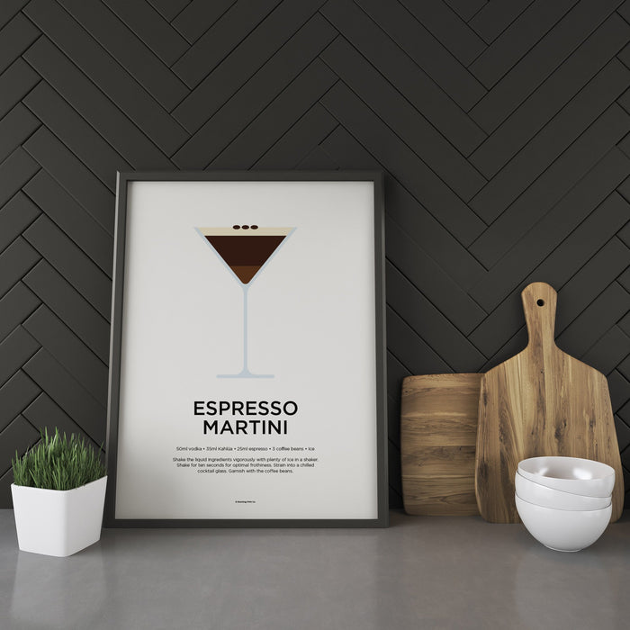 Espresso Martini cocktail recipe print