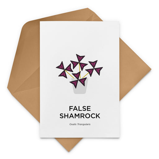 False Shamrock Greeting Card