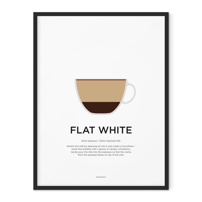 Flat White coffee art print