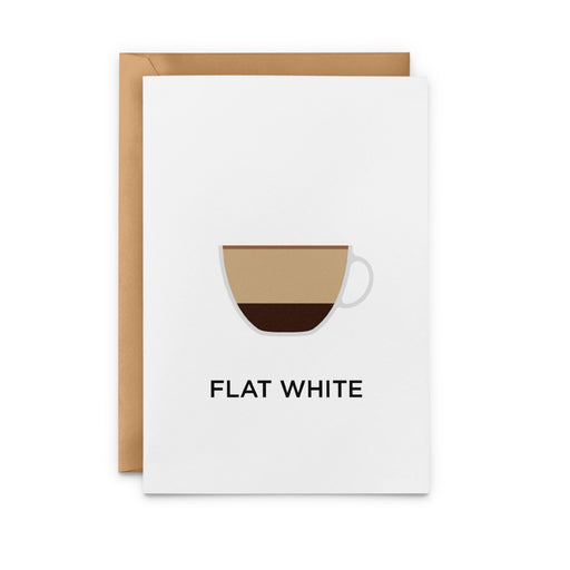 Flat White Greeting Card