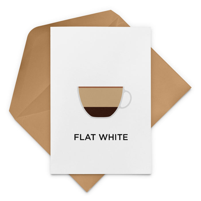 Flat White Coffee Greeting Card