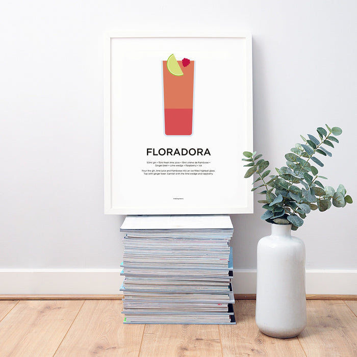 Floradora cocktail recipe print
