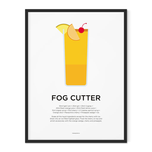 Fogcutter cocktail art print