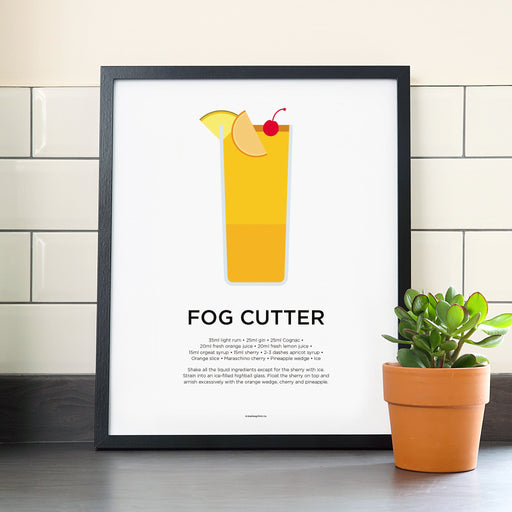 Fogcutter cocktail poster