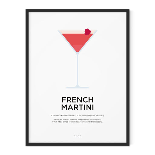 French Martini cocktail art print