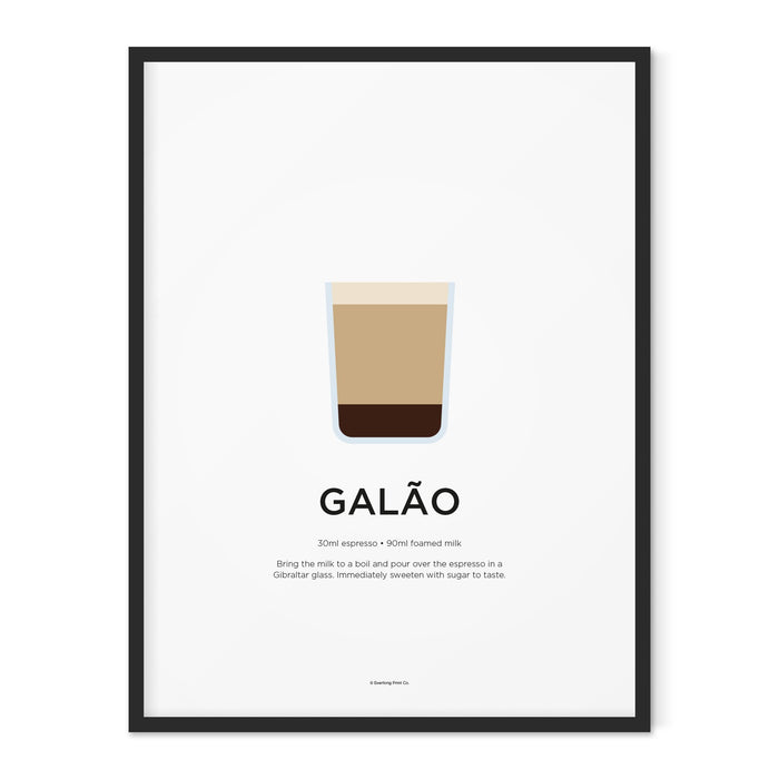 Galão coffee art print