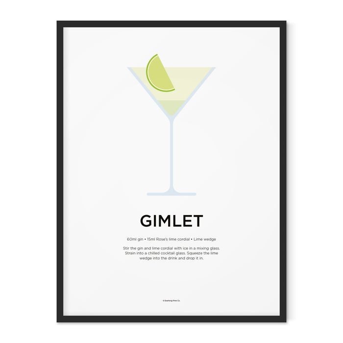 Gimlet cocktail art print