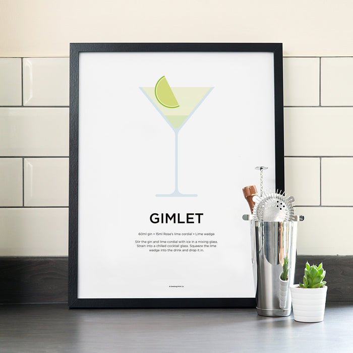 Gimlet cocktail poster