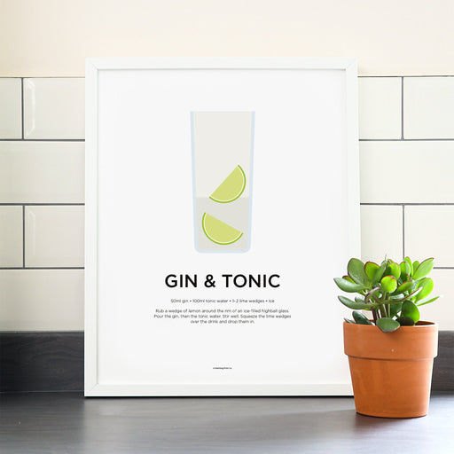 Gin and Tonic cocktail poster