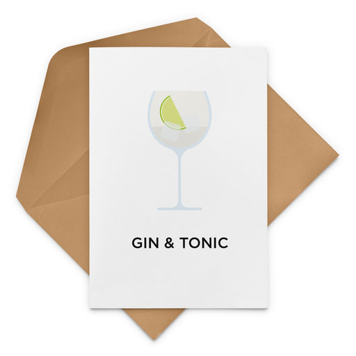 Gin and Tonic cocktail birthday card