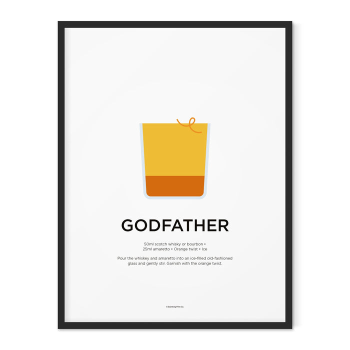Godfather cocktail art print