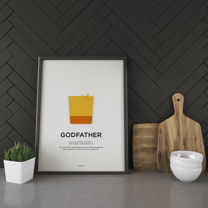 Godfather cocktail recipe print
