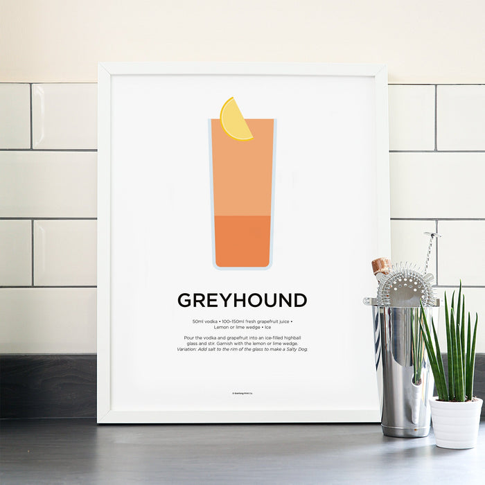 Greyhound cocktail poster