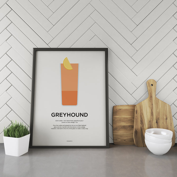 Greyhound cocktail recipe print