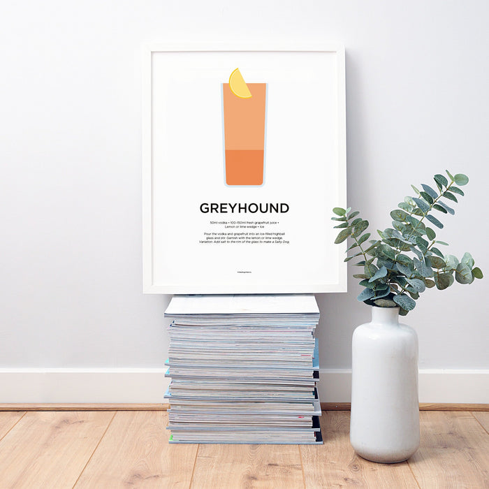 Greyhound cocktail wall art