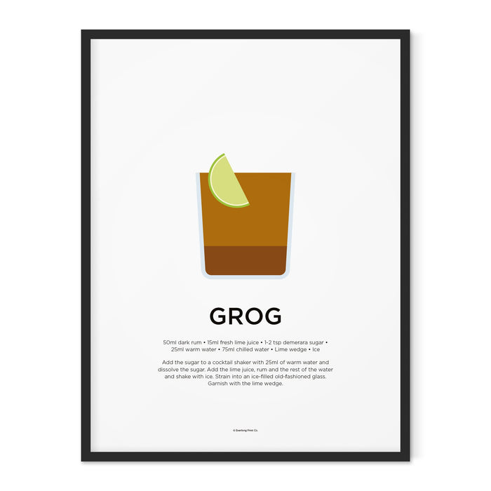 Grog cocktail art print