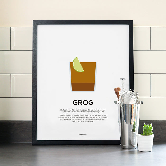 Grog cocktail poster