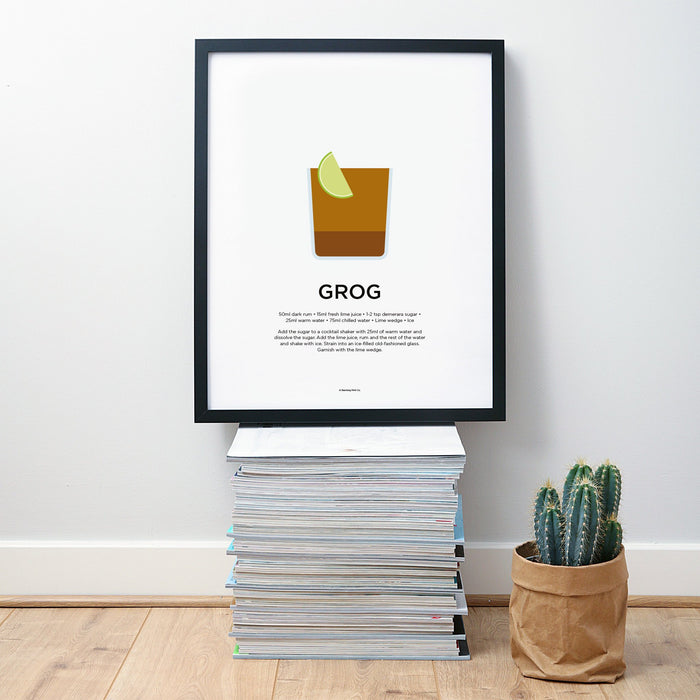 Grog cocktail wall art