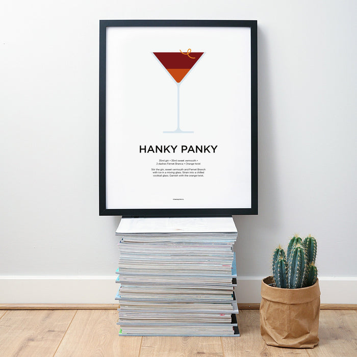 Hanky Panky cocktail wall art