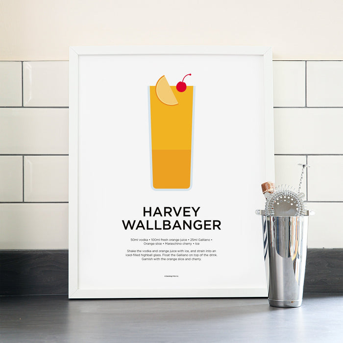 Harvey Wallbanger cocktail poster