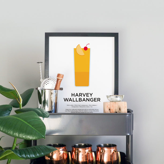 Harvey Wallbanger cocktail print