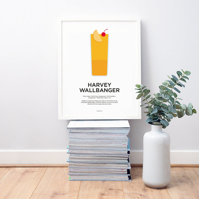 Harvey Wallbanger cocktail wall art