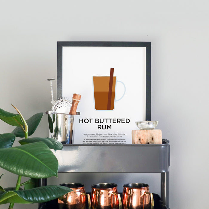 Hot Buttered Rum cocktail print