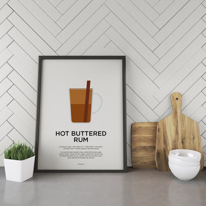 Hot Buttered Rum cocktail recipe print