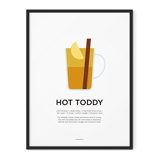 Hot Toddy cocktail art print