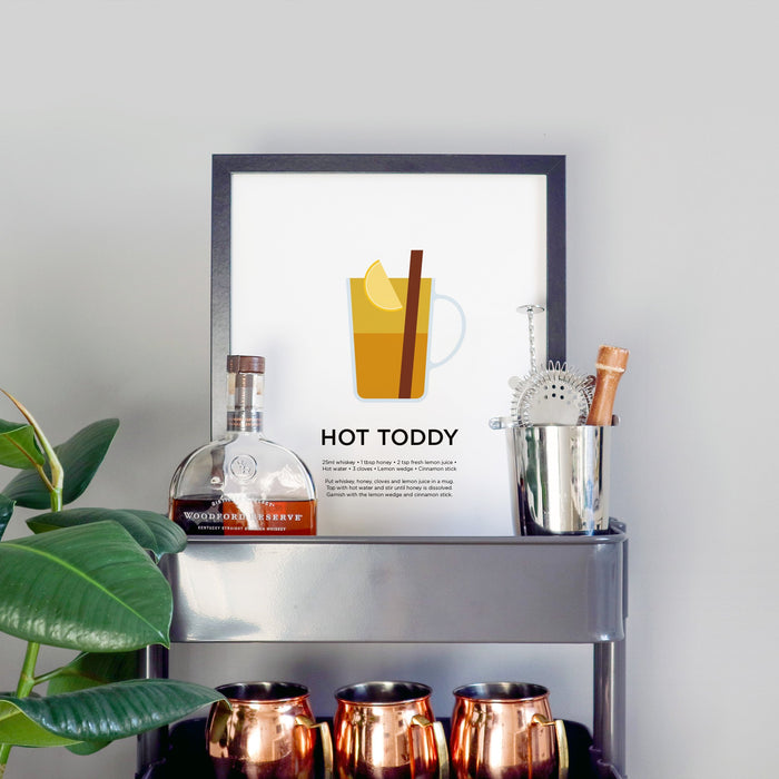 Hot Toddy cocktail print