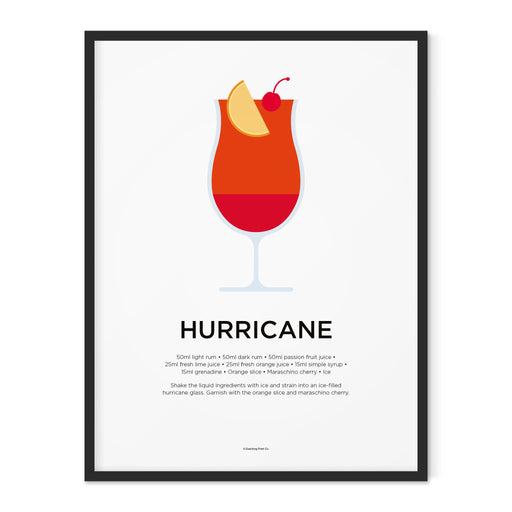Hurricane cocktail art print