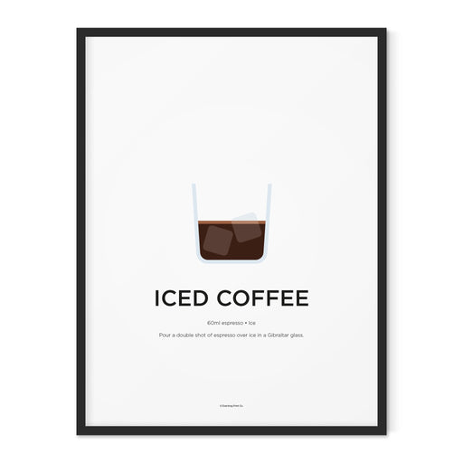 Iced Coffee art print