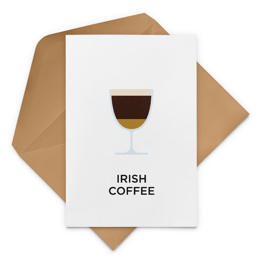 Irish Coffee Christmas Card