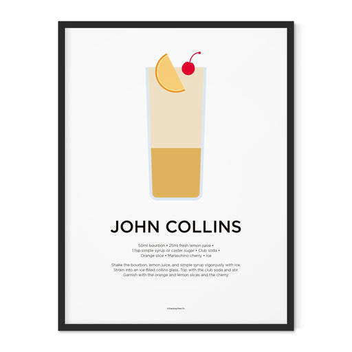 John Collins cocktail art print