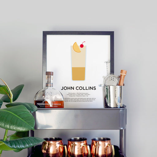 John Collins cocktail print