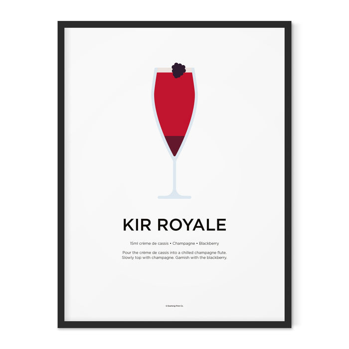 Kir Royale cocktail art print