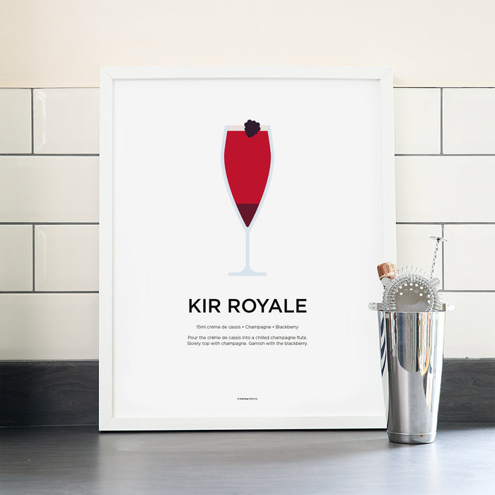 Kir Royale cocktail poster