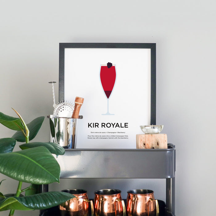 Kir Royale cocktail print