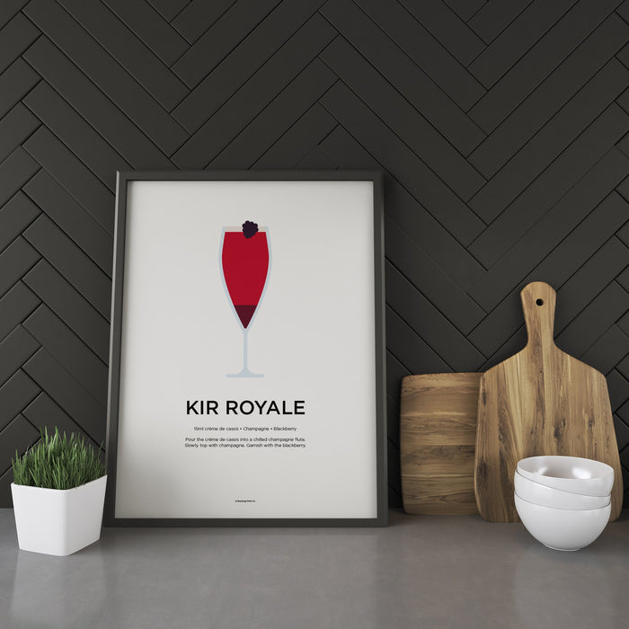 Kir Royale cocktail recipe print