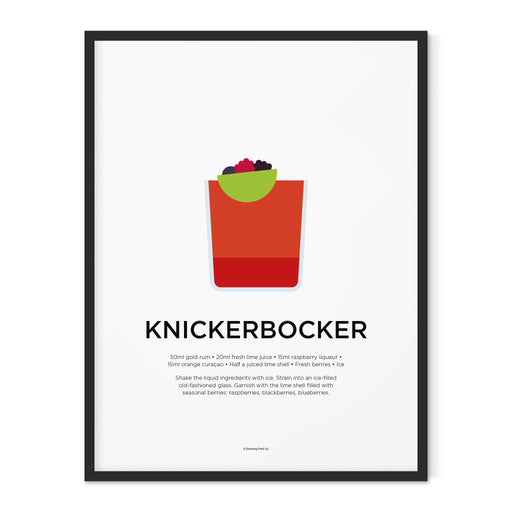 Knickerbocker cocktail art print