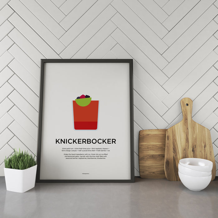 Knickerbocker cocktail recipe print