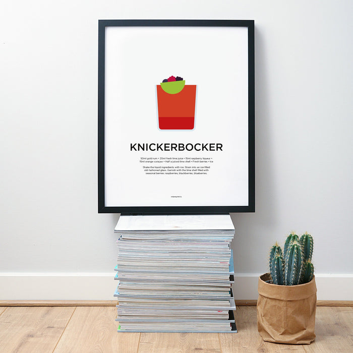 Knickerbocker cocktail wall art