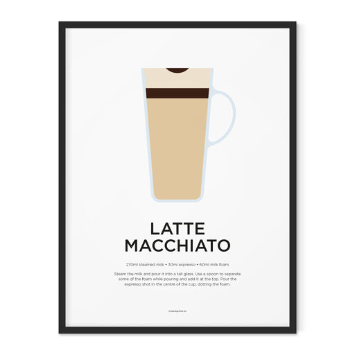 Latte Macchiato coffee art print