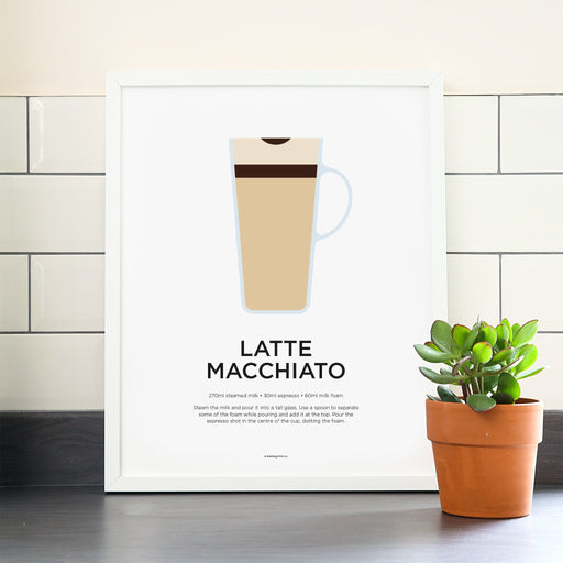 Latte Macchiato coffee poster