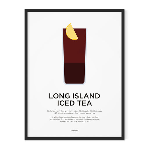 Long Island Iced Tea cocktail art print